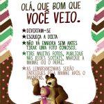 Cartão Agradecimento Quadro Masha e o Urso Kit