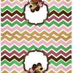 Cartão Agradecimento de mesa Masha e o Urso Kit