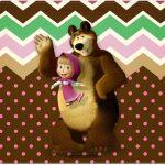 Cartão Masha e o Urso Kit