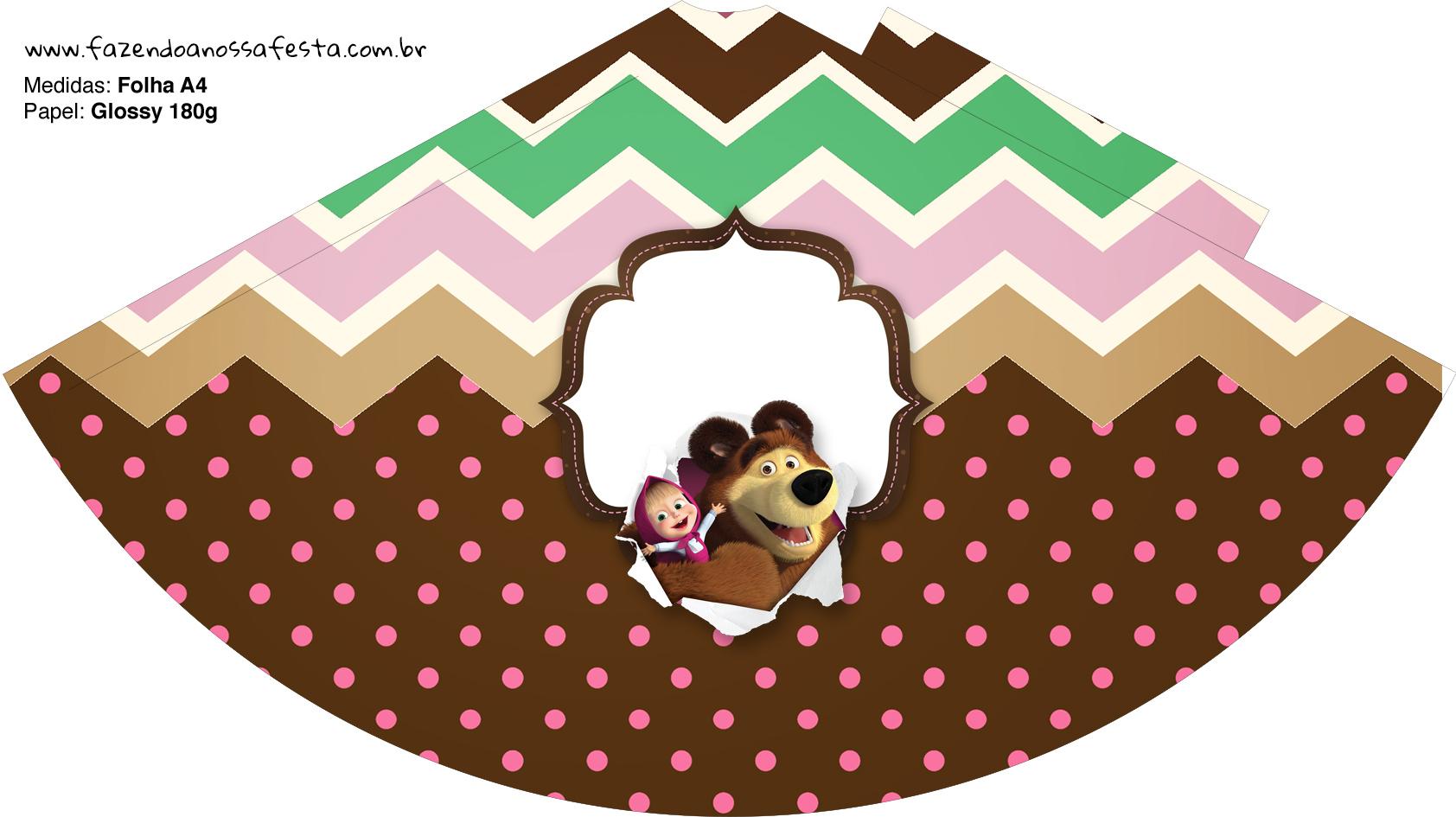 Chapeuzinho de Festa Masha e o Urso Kit