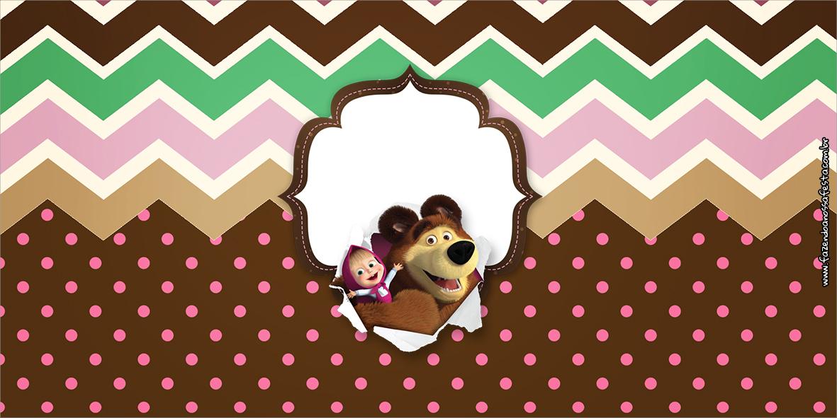 Cofrinho Masha e o Urso Kit