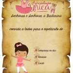 Convite Pergaminho Bailarina 1
