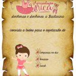 Convite Pergaminho Bailarina 3