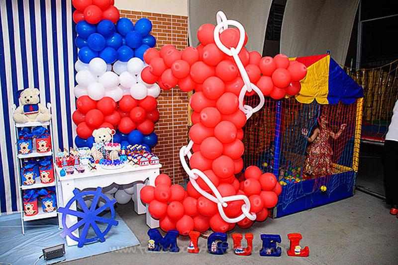 Decoração Festa Ursinho Marinheiro do Miguel
