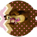 Enfeite Canudinho Masha e o Urso Kit