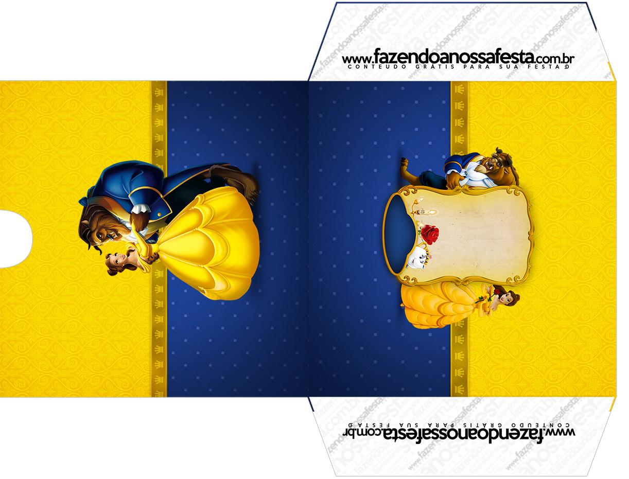 Envelope CD DVD A Bela e a Fera