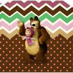 Envelope Convite Masha e o Urso Kit