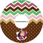 Etiqueta CD DVD Masha e o Urso Kit