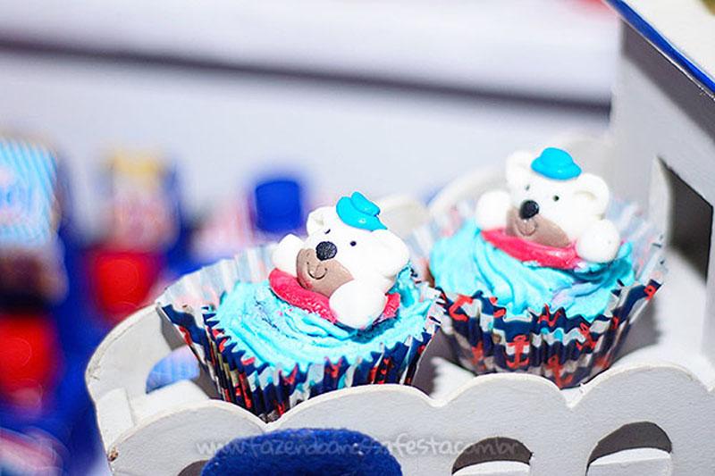 Festa Infantil Ursinho Marinheiro do Miguel Cupcake