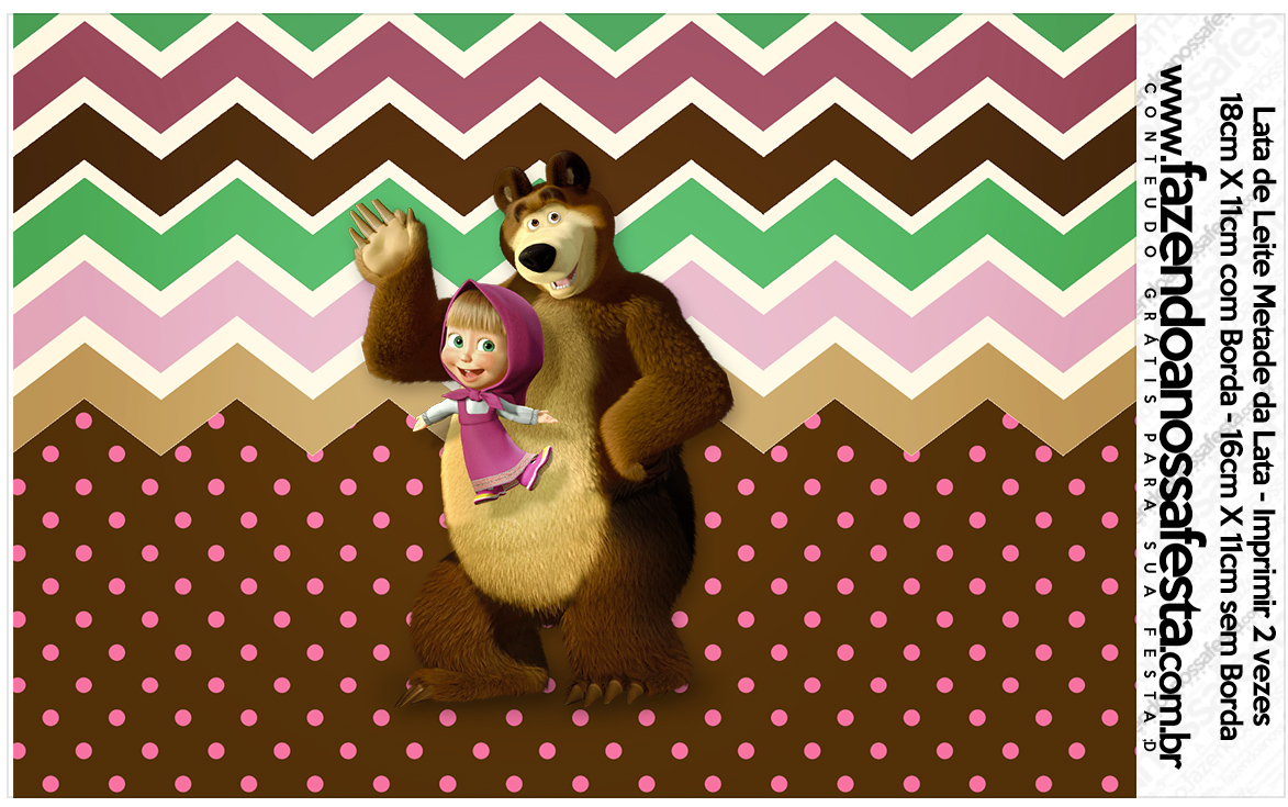 Lata de leite Masha e o Urso Kit