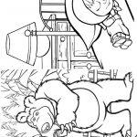 Livrinho de Colorir Masha e o Urso 10
