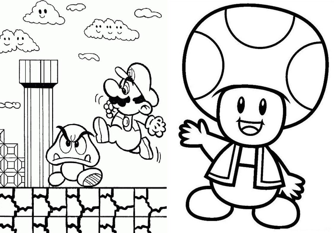 Livrinho para Colorir Mario Bros 2