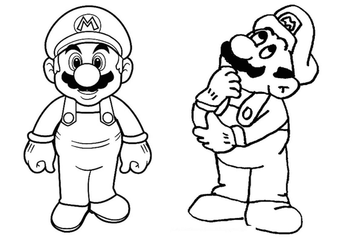 Fabuloso Livrinho para Colorir Mario Bros Grátis para Imprimir ZM11