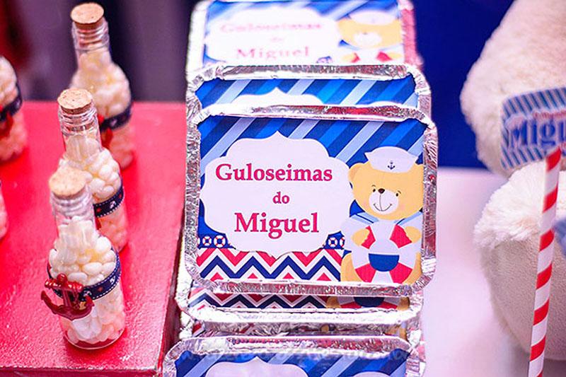 Marmitinha Festa Ursinho Marinheiro do Miguel