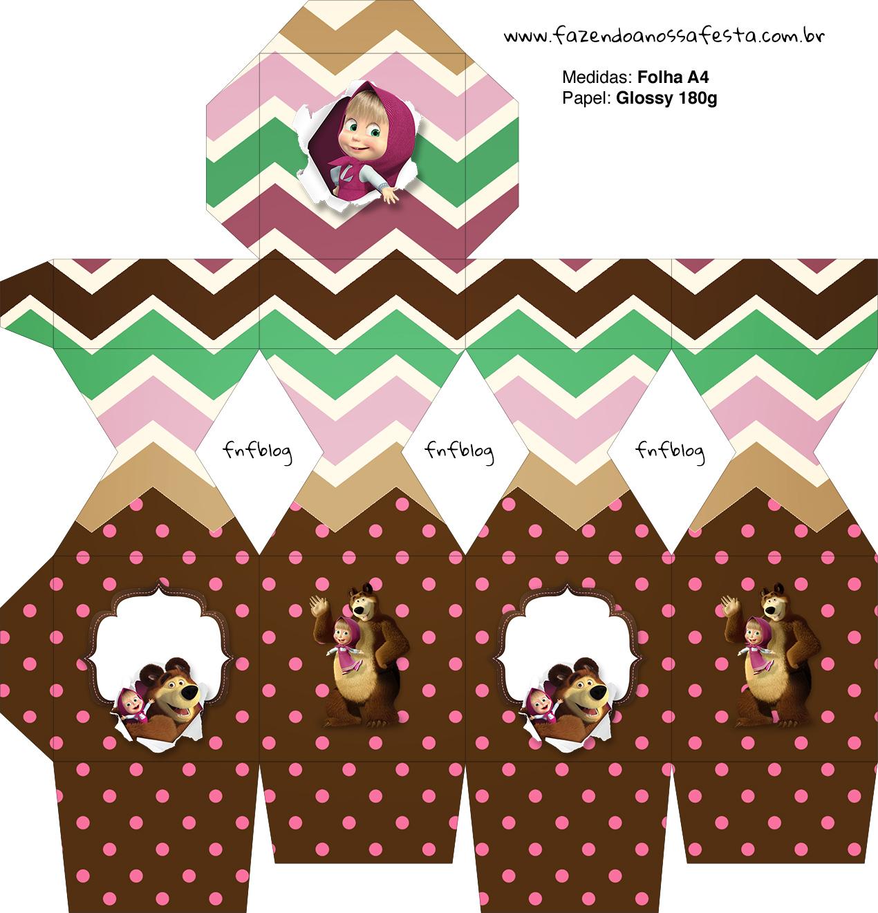Meia Caixa Bala Masha e o Urso Kit