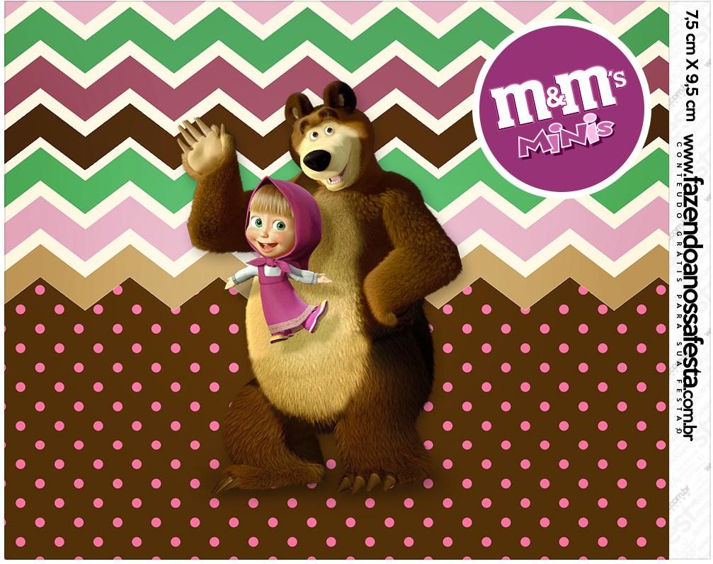Mini M&M Masha e o Urso Kit Festa