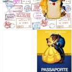 Molde Passaporte A Bela e a Fera