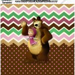 Molde Quadrado Masha e o Urso Kit Festa