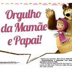 Plaquinhas para festa Masha e o Urso 4