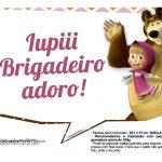 Plaquinhas para festa Masha e o Urso 5