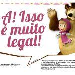 Plaquinhas para festa Masha e o Urso 8
