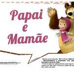 Plaquinhas para fotos Masha e o Urso 10