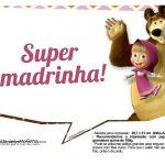 Plaquinhas para fotos Masha e o Urso 14