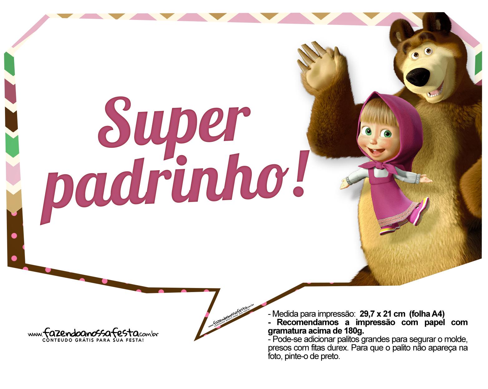 Plaquinhas para fotos Masha e o Urso 15