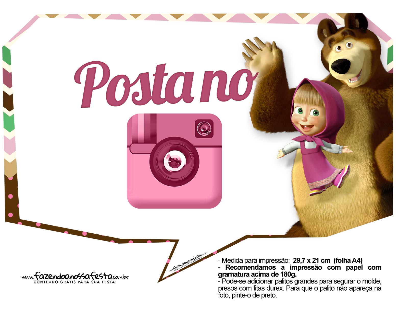 Plaquinhas para fotos Masha e o Urso 16