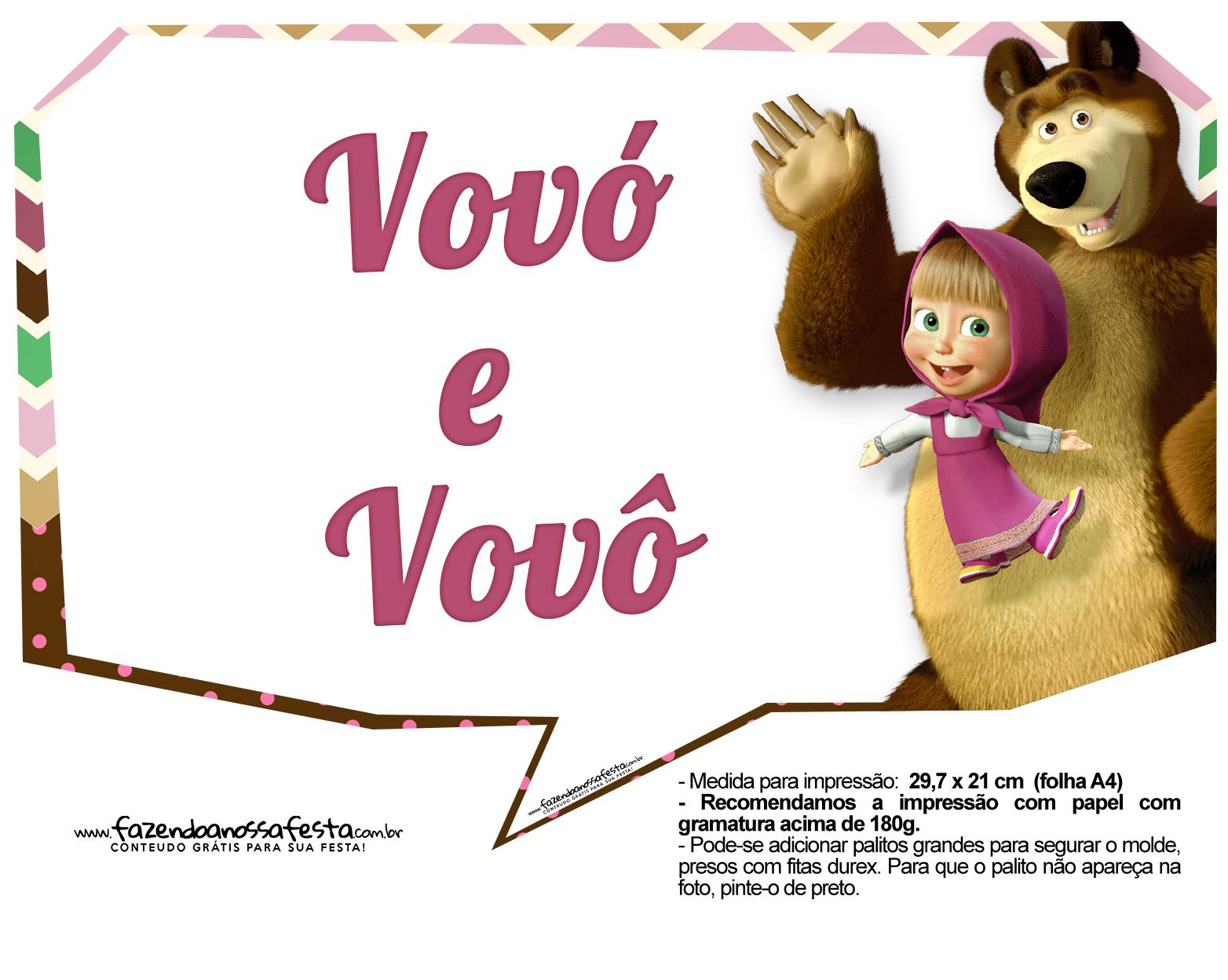 Plaquinhas para fotos Masha e o Urso 17