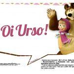 Plaquinhas para fotos Masha e o Urso 18