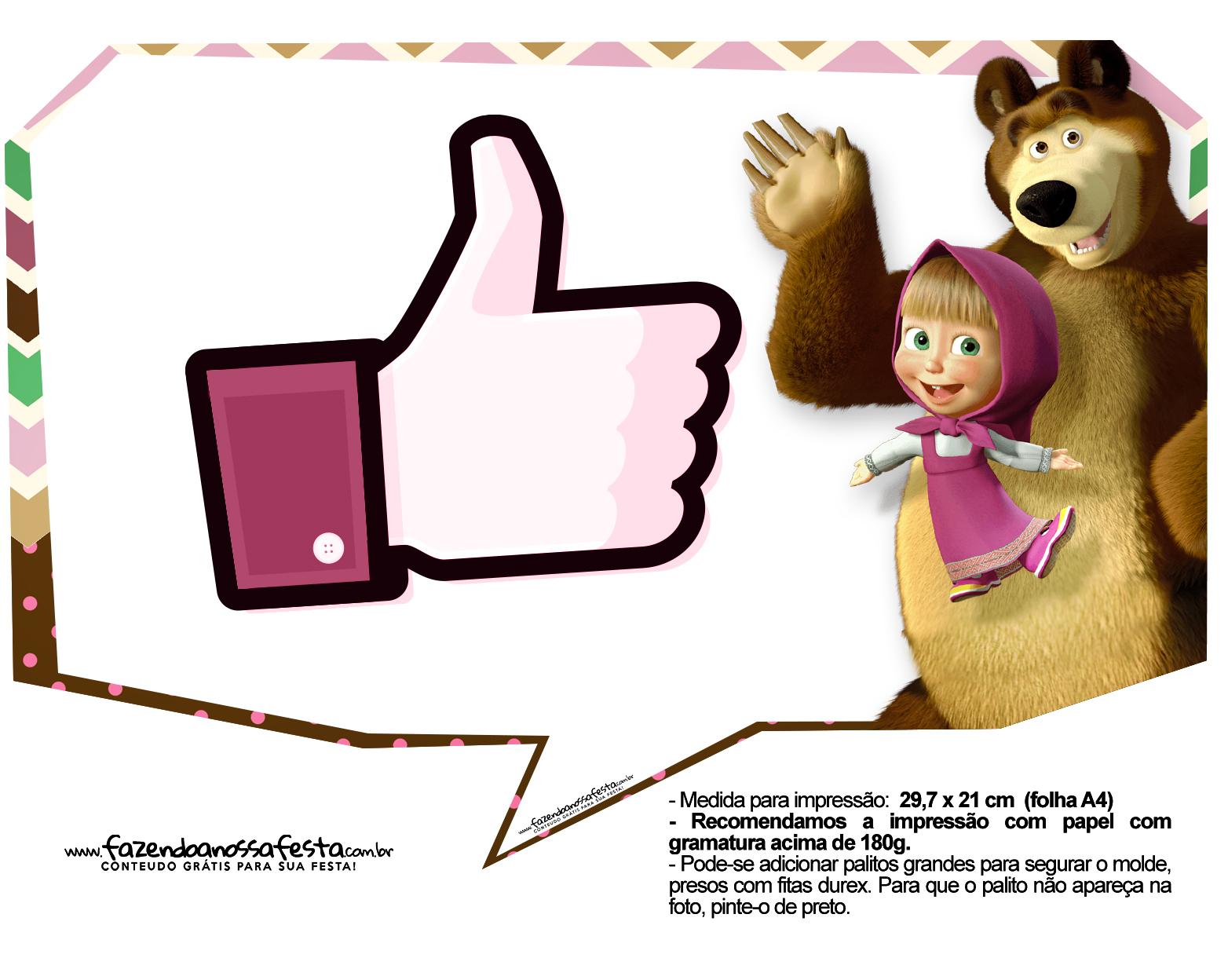 Plaquinhas para fotos Masha e o Urso 19