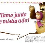 Plaquinhas para fotos Masha e o Urso 2