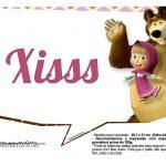 Plaquinhas para fotos Masha e o Urso 20