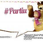 Plaquinhas para fotos Masha e o Urso 22