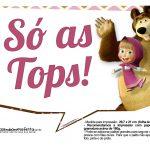 Plaquinhas para fotos Masha e o Urso 3
