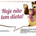 Plaquinhas para fotos Masha e o Urso 4