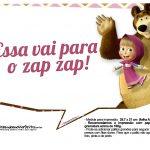 Plaquinhas para fotos Masha e o Urso 5