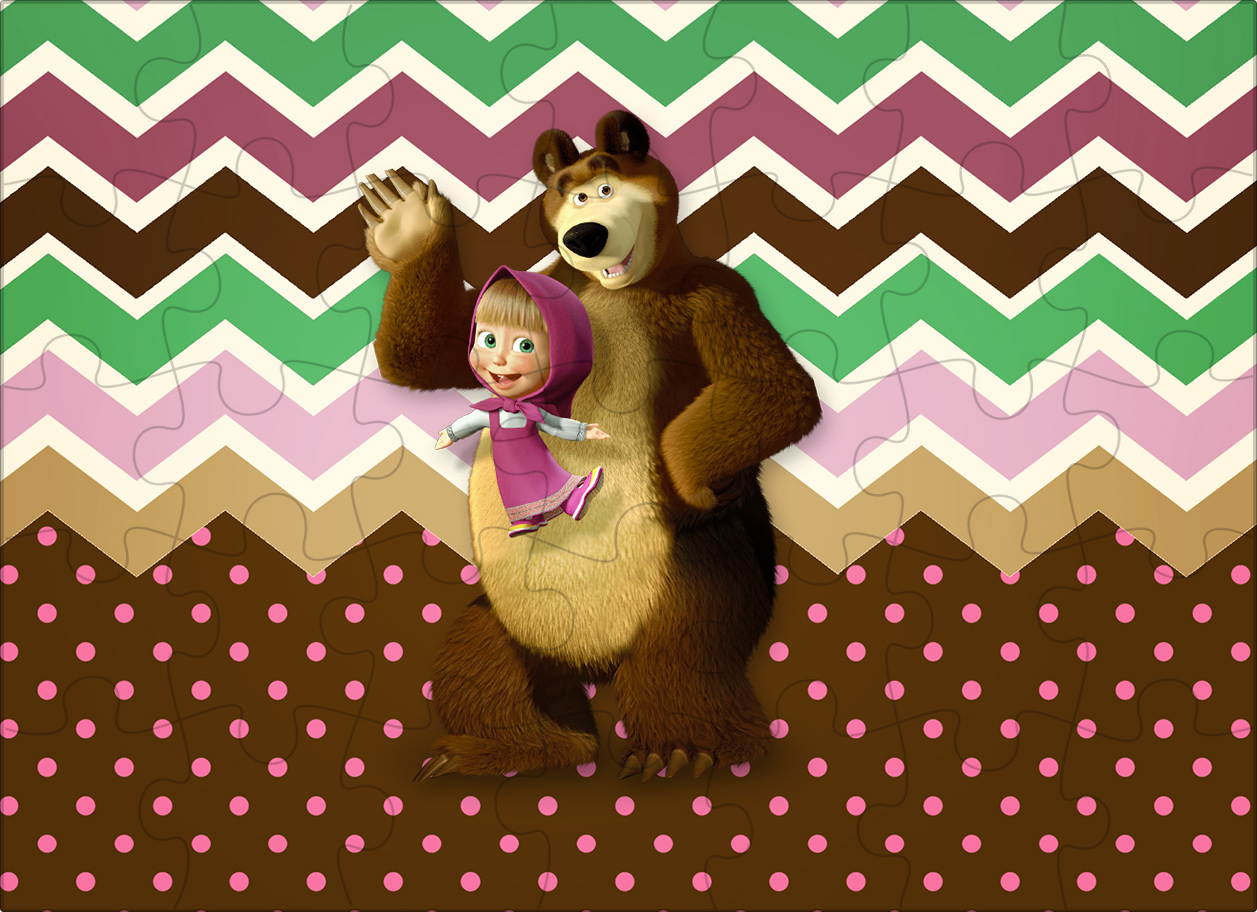 Quebra cabeça Masha e o Urso Kit