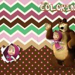 Revista Colorindo Masha e o Urso Kit