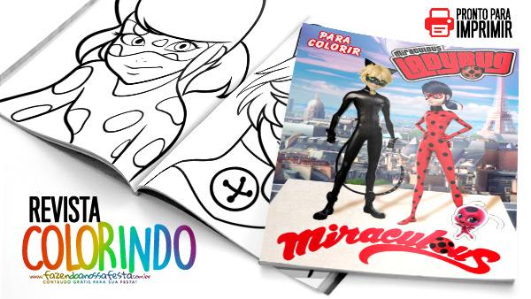 Revista para Colorir Miraculous