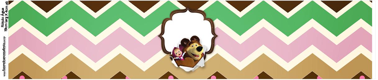 Rotulo Agua Masha e o Urso Kit Festa