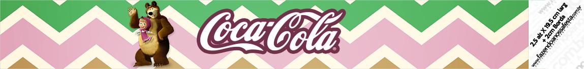 Rotulo Coca cola Masha e o Urso Kit Festa