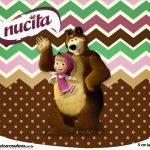 Rotulo Creminho Nucita Masha e o Urso Kit