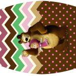 Rótulo Esmalte Masha e o Urso Kit Festa