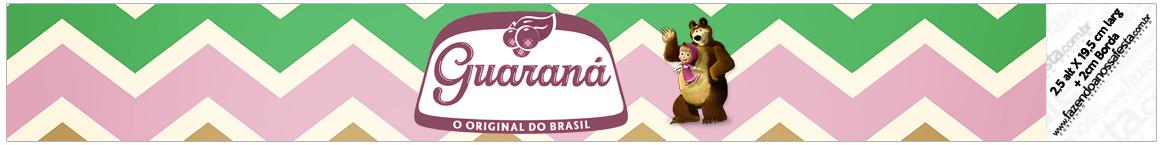 Rotulo Guarana Caçulinha Masha e o Urso Kit