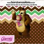 Rotulo Mini Baton Garoto Masha e o Urso Kit