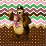 Rotulo Mini Confeti Masha e o Urso Kit Festa