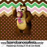 Rotulo Passatempo Masha e o Urso Kit Festa