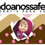Rotulo Pote Papinha Nestle Masha e o Urso Kit Festa